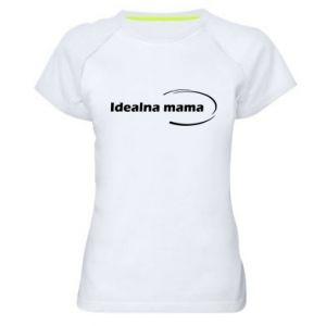 Damska koszulka sportowa Idealna mama