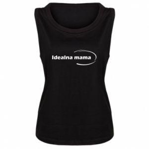 Damska koszulka bez rękawów Idealna mama