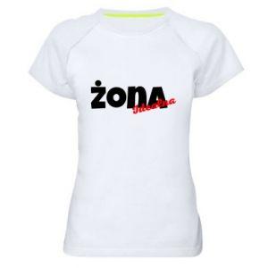 Women's sports t-shirt Perfect wife