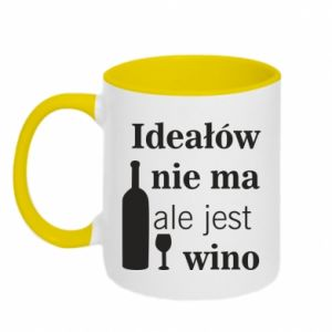 Two-toned mug There are no ideals, but there is wine