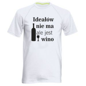 Men's sports t-shirt There are no ideals, but there is wine - PrintSalon