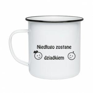 Enameled mug I will be grandpa soon