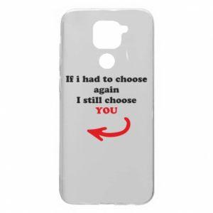 Etui na Xiaomi Redmi Note 9/Redmi 10X If i had to choose again I still choose YOU, dla niej