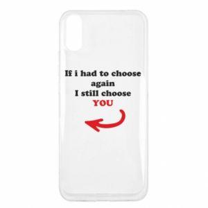 Etui na Xiaomi Redmi 9a If i had to choose again I still choose YOU, dla niej