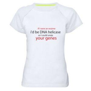 Damska koszulka sportowa If I were an enzime