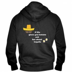 Męska bluza z kapturem na zamek If life gives you lemons ask her about tequila