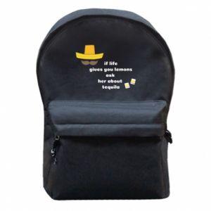 Plecak z przednią kieszenią If life gives you lemons ask her about tequila