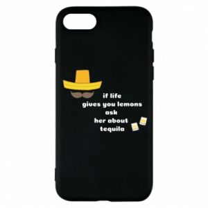Etui na iPhone 8 If life gives you lemons ask her about tequila