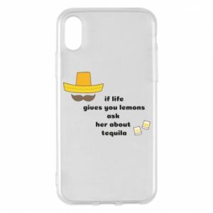 Etui na iPhone X/Xs If life gives you lemons ask her about tequila