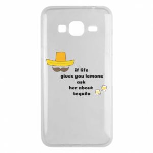 Etui na Samsung J3 2016 If life gives you lemons ask her about tequila