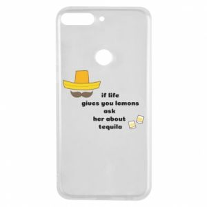 Etui na Huawei Y7 Prime 2018 If life gives you lemons ask her about tequila