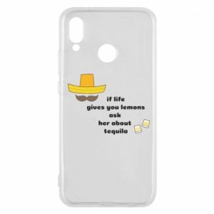 Etui na Huawei P20 Lite If life gives you lemons ask her about tequila
