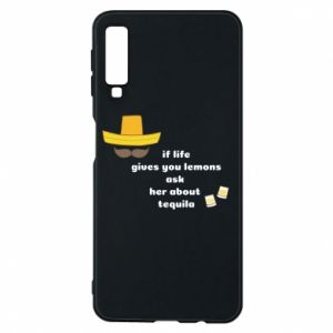 Etui na Samsung A7 2018 If life gives you lemons ask her about tequila