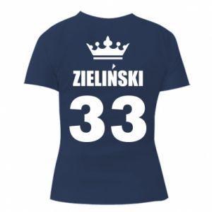 Women's t-shirt name, figure and crown - PrintSalon