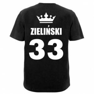 Męska koszulka V-neck Imię, cyfra i korona - PrintSalon