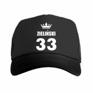 Trucker hat name, figure and crown - PrintSalon