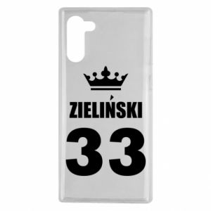 Samsung Note 10 Case name, figure and crown