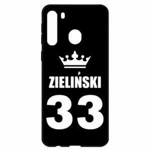 Etui na Samsung A21 Imię, cyfra i korona