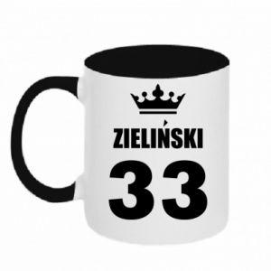 Two-toned mug name, figure and crown - PrintSalon