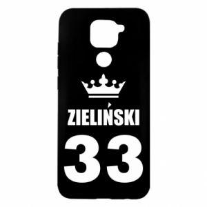 Etui na Xiaomi Redmi Note 9/Redmi 10X Imię, cyfra i korona