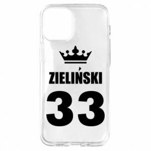 Etui na iPhone 12 Mini Imię, cyfra i korona