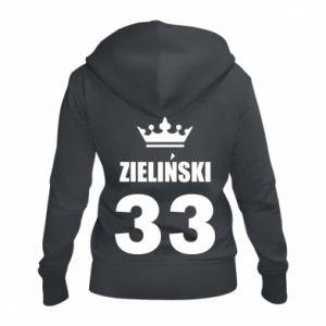 Women's zip up hoodies name, figure and crown - PrintSalon
