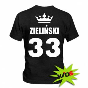 Kids T-shirt name, figure and crown
