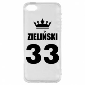 Phone case for iPhone 5/5S/SE name, figure and crown - PrintSalon