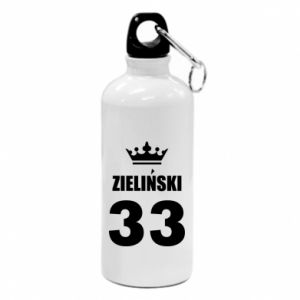 Water bottle name, figure and crown