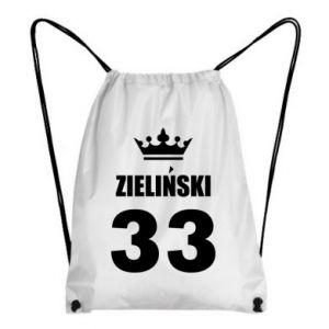 Backpack-bag name, figure and crown - PrintSalon