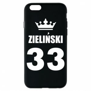 Phone case for iPhone 6/6S name, figure and crown - PrintSalon