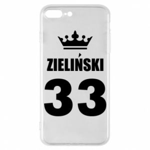 Phone case for iPhone 7 Plus name, figure and crown - PrintSalon