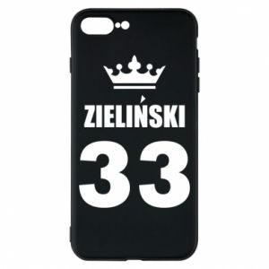 Phone case for iPhone 8 Plus name, figure and crown - PrintSalon