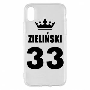 Phone case for iPhone X/Xs name, figure and crown - PrintSalon
