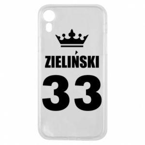 Etui na iPhone XR Imię, cyfra i korona