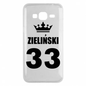 Phone case for Samsung J3 2016 name, figure and crown - PrintSalon