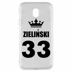 Phone case for Samsung J3 2017 name, figure and crown - PrintSalon