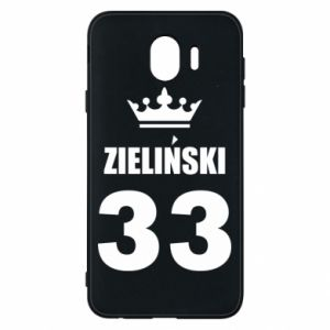 Phone case for Samsung J4 name, figure and crown - PrintSalon