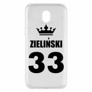 Phone case for Samsung J5 2017 name, figure and crown - PrintSalon