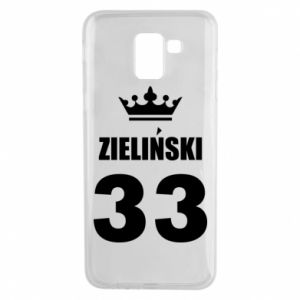 Phone case for Samsung J6 name, figure and crown - PrintSalon