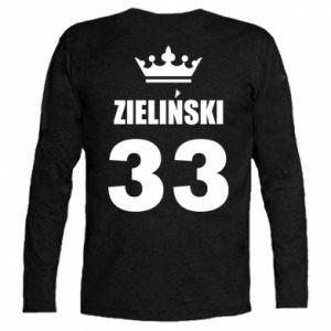Koszulka z długim rękawem Imię, cyfra i korona - PrintSalon
