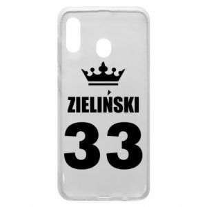 Phone case for Samsung A20 name, figure and crown - PrintSalon
