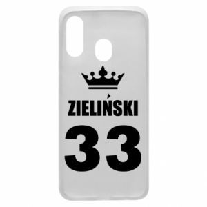 Phone case for Samsung A40 name, figure and crown - PrintSalon