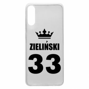 Phone case for Samsung A70 name, figure and crown - PrintSalon