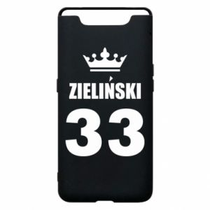 Phone case for Samsung A80 name, figure and crown - PrintSalon