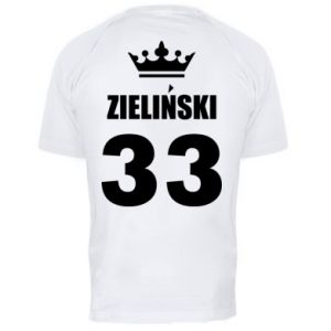 Men's sports t-shirt name, figure and crown - PrintSalon