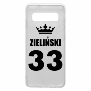 Phone case for Samsung S10 name, figure and crown - PrintSalon
