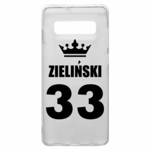 Phone case for Samsung S10+ name, figure and crown - PrintSalon