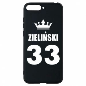 Phone case for Huawei Y6 2018 name, figure and crown - PrintSalon