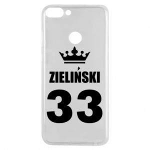 Phone case for Huawei P Smart name, figure and crown - PrintSalon